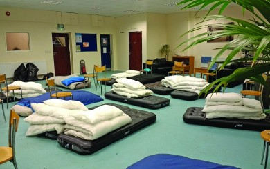 The Care Centre ready for the night shelter