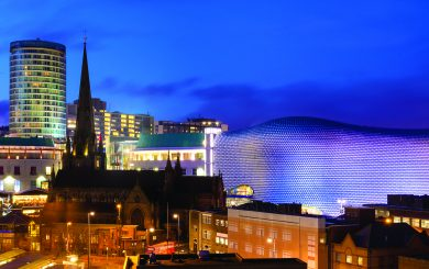 Birmingham Panoramic Cityscape, England, UK